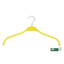 Anti-deslizamento elegante camisa amarela uso ligeiro laminado cabide