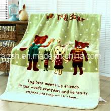 Couverture de vison de polyester imprimée par bébé