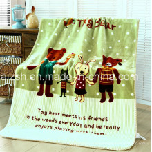 Baby Printed Polyester Mink Blanket