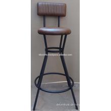 Industrielles Leder Bar Stuhl Neueste Design