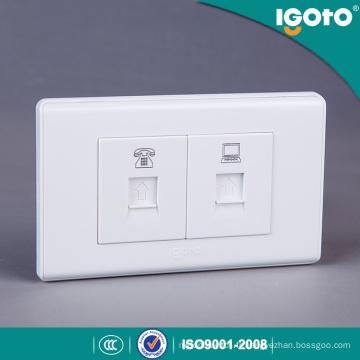 American Style Rj11 Téléphone et Power Date Socket Outlet