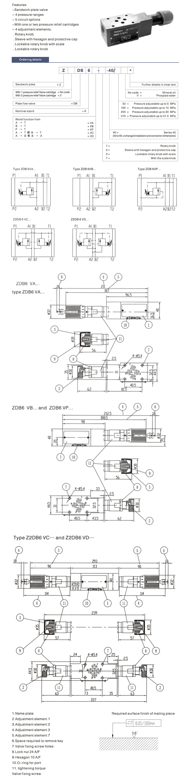 Hydraulic Fluid Pressure Release Valve