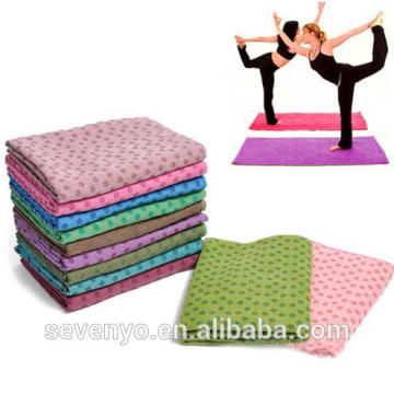non slip silica gel point multicolor yoga mat towel YT-001