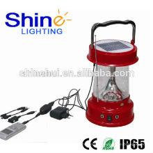 Solar lanterna de acampamento com carregador de telefone celular