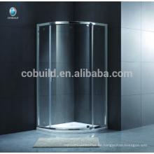K-543 Europe Style Einfache Glasrundwand Selbstreinigende Duschkabine aus Glas mit Tablett