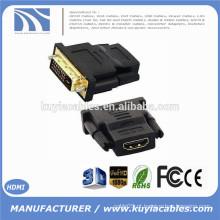 Novo DVI 24 + 1 Masculino para HDMI Female Converter HDMI para DVI adaptador Suporte 1080P para HDTV LCD, Atacado