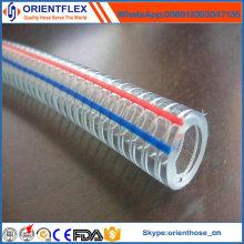 China Hersteller Transparent PVC Stahldraht verstärkt Schlauch