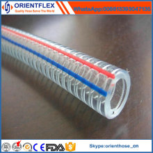China Manufacturer Transparent PVC Steel Wire Reinforced Hose