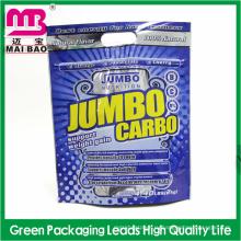 Подгонянный алюминиевой фольги reclosable ziplock пластиковый мешок упаковки для еды с вешалкой