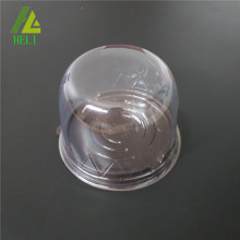 clear dome PET cake container