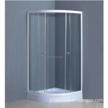 new style corner simple shower cabin Walk in white shower enclosure