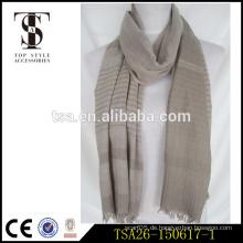 Digitaldruck Polyester Schal reverible Stoff Streifen einfache Stil Männer Schal