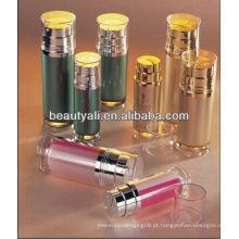 Garrafa de acrílico cosméticos de tubo duplo