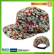 2013 Moda y Nueva Impresión Floral 5 Paneles Sombrero-estilo 0007
