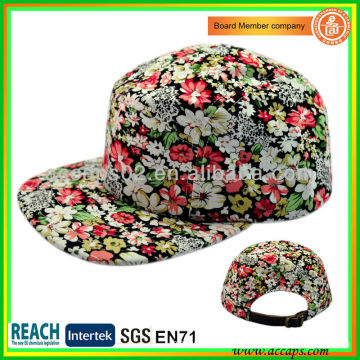 2013 Fashion & New Floral Print 5 Panels Hat-style 0007