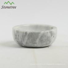 Atacado sal mármore e caixa de pimenta pitada tigela de mármore
