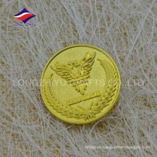 Gran empresa de oro de negocios de metal insignia