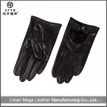 2016 nuevos hombres del diseño que conducen el guante de cuero para la mano protectora