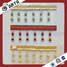 Fabric Braid Trimming 100% Polyester Beaded Trim Crochet Curtain Bead Trims Hometextile Decorative