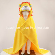 Manta con forma de capucha gruesa Manta con forma de animal lindo de león recién nacido