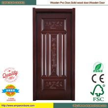 Puerta de madera piel del PVC puerta Interior de madera puerta
