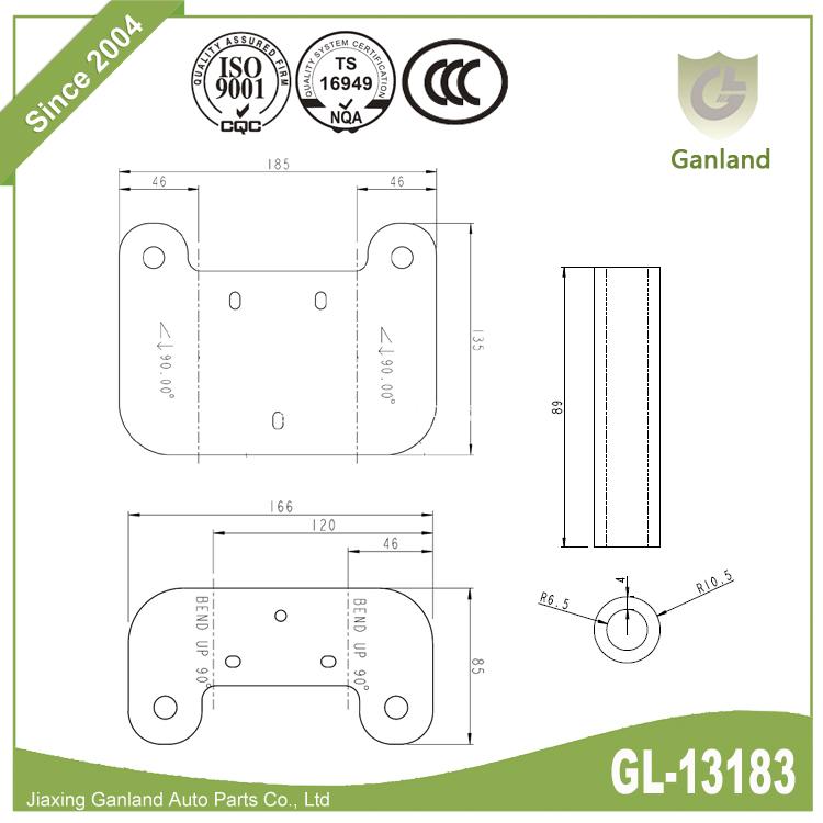 dump large hinge GL-13183Y8