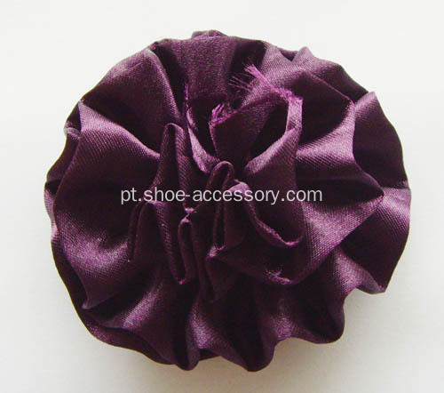 Cetim fita Multilayers Flower Shoe Clips