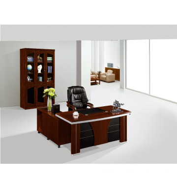 office boss table with filing bookcase layout