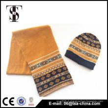 Nouvelle écharpe en tissu unisexe jacquard tricotée