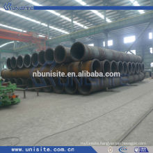 (dredging) spiral pipe with flanges