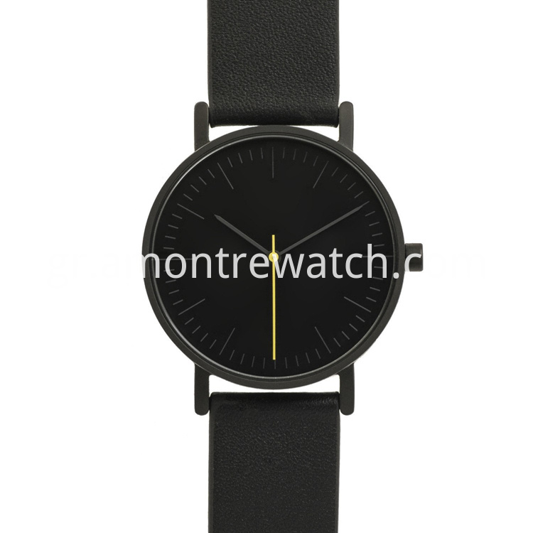 watch with Genuine Leather Band