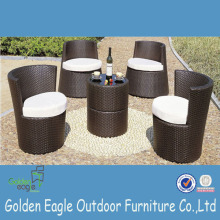 High Back Usado Dubai Ratan Patio Dining Set