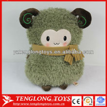 Смазливая овечья мягкая плюшевая плюшевая подушка для рук