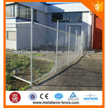 Used metal wire mesh temporary chain link fence