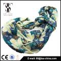 Walf checks knitted design very soft flora print 100% viscose infinity scarf