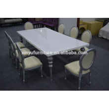 silver wedding wood table and chair furniture XYN2265                                                                         Quality Choice
