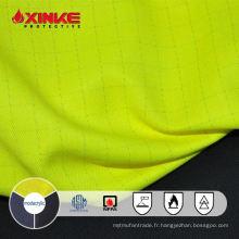 NFPA 2112 Salut vis jaune ignifuge FR AS tissu de coton modacrylique