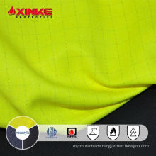 NFPA 2112 Hi vis Yellow permenent flame resistant FR AS Modacrylic cotton fabric