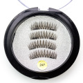 3D best magnetic eyelashes brown two magnet