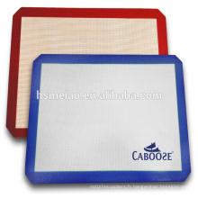 Tapis professionnel en silicone à base de fibre de verre en plastique rectangulaire