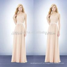 Лепесток розовый платье 2014 платья невесты длинные шифон бретелек милая платье с крест-накрест складки и пояс акцент NB0729