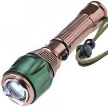 Car Rechargeable Q5 5W Golden LED antorcha para senderismo