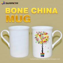 High Quanlity 10oz sublimation tasse blanche en os chrome pour gros