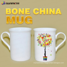 High Quanlity 10oz sublimation white bone china mug for wholesales