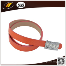 OEM Fashion Red PU Ledergürtel mit Strass Schnalle