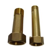 tipo longo pernil de conexão de bronze do medidor de água