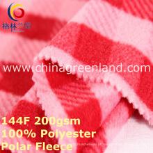 Poliéster de malha de impressão polar tecido de lã para o revestimento do vestuário (GLLML397)