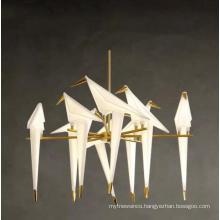 Bird Light hotel indoor home office restaurant nordic gold bird lamp hanging lamp modern bird chandelier