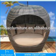 Поставщик Китая Ротанга День Кровать Сад Мебель Открытый