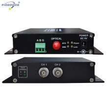 Transmisor-receptor video de fibra óptica del CCTV del control de supervisión 2CH